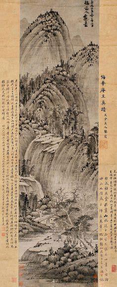 元-吴镇-山居图 | Painted by the Yuan Dynasty artist Wu Zhen 吴镇. | China Online Museum - Chinese Art Galleries | Flickr