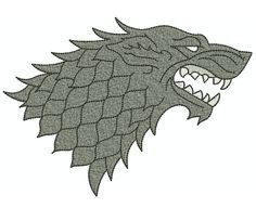 Here is a dire wolfs head, and used in Game of Thrones, aka the Song of Ice and Fire series, as the sigil of House Stark and Winterfell.  Get