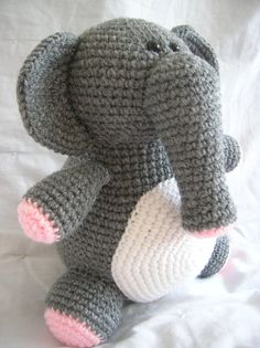Eleanor the Elephant Amigurumi Crochet PATTERN by daveydreamer
