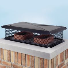 X Black Galvanized Gelco Chimney Cover high, X screen with mesh). This Model C X Black Galvanized Gelco Multi-Flue Chimney Cover features an high screen and base mounting tabs. Its fully assembled and features a Chimney Decor, Chimney Cap, Chimney Sweep, Farmhouse Fireplace, Home Fireplace, Roof Cap, Fireplace Tools, Fireplace Ideas, Kitchen Cabinet Remodel