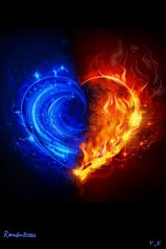 Bring your twin flame into your life ! Have you ever wondered where your twin flame is and why you haven& had it in your life? Heart Wallpaper, Galaxy Wallpaper, Fire And Ice Wallpaper, Wallpaper Edge, Eis Tattoo, Flame Tattoos, Flame Art, Twin Flame Love, Heart Pictures