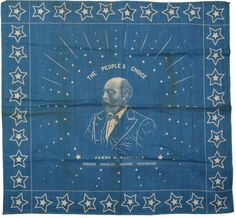 Buy online, view images and see past prices for J. Vintage Bandana, Steuben Glass, Bandana Design, Native American Design, Bandana Print, Pocket Square, Print Patterns, Vintage Outfits, Blue And White