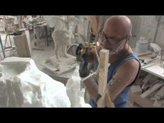 Frilli Gallery The carving of a marble block Putto Cecioni - YouTube