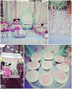 Shabby Chic Minnie Mouse Party via Kara's Party Ideas | KarasPartyIdeas.com