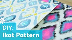 DIY Ikat Print Pattern - simple painting methods