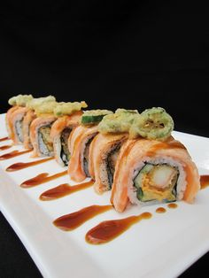 Torched Salmon Roll #Tampa #USF #Sushi