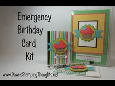 Dawns Stamping Studio: Emergency Birthday card kit video