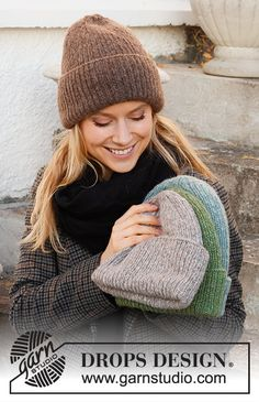 Winter Smiles Hat / DROPS 214-67 - Gratis strikkeoppskrifter fra DROPS Design Easy Knitting Patterns, Free Knitting, Baby Knitting, Crochet Patterns, Drops Design, Knitted Headband, Knitted Hats, Knit Crochet, Crochet Hats