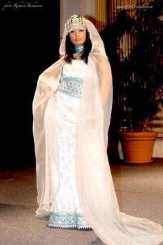 Kabyle dress with Burnus.Algerian Traditional clothing