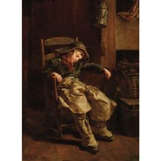 Sleeping Boy by Pierre Edouard Frère