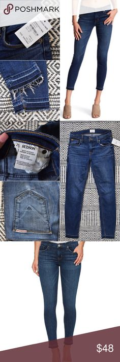NWT $189 Hudson Released Hem jeans NEW! Size 25 can fit a 26. NO TRADES! Check out my closet for similar! Bundle 2 or more items and I will send you a great offer!❤️ Hudson Jeans Jeans Ankle & Cropped