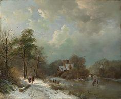Barend Cornelis Koekkoek - Winterlandschap 1833