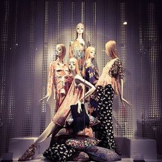 """ZARA, """"I noticed Belinda that across the road at MaxMara they also have Decorative Cushions in there window-display"""", pinned by Ton van der Veer:"""