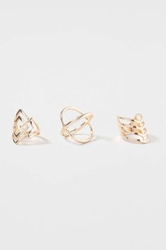 Cut Out Shape Ring Pack - Topshop
