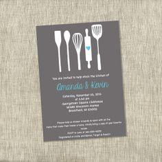bridal shower invite kitchen shower invite by thechambraybunny 2000