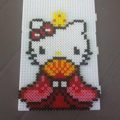 Hinamatsuri Hello Kitty perler beads by lily_pixie03