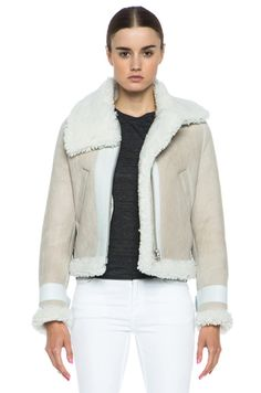 Prada Dyed Sheep Fur Shearling Wool Flight Bomber Jacket