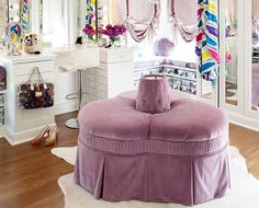 """I would LOVE to have this entire airy, roomy and light-filled closet but will """"settle"""" for the awesome make-up nook. [oh and the shoes won't hurt too]"""