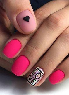 Easy Valentine's Day Nail Art Ideas 2019 easy valentine's day nail art ideas nail designs; acrylic easy valentine's day nail art ideas nail designs; Valentine's Day Nail Designs, Acrylic Nail Designs, Nails Design, Pink Design, Design Art, Acrylic Art, Acrylic Nails, Salon Design, Design Ideas
