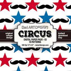 dadartdesign: Circus Patterns digital paper pack 03
