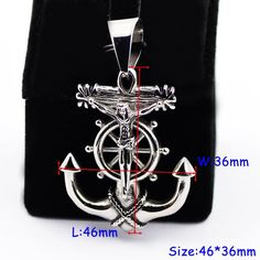 Amazon.com: D&M Jewelry 2Pcs Anchors Shaped 316L Stainless Steel Pendant Charms (Without Necklace): Jewelry