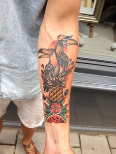 Tucan tattoo done in Amsterdam @ salonserpent