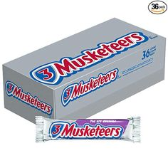 Amazon.com : 3 MUSKETEERS Chocolate Singles Size Candy Bars 1.92-Ounce Bar 36-Count Box : Chocolate Bars : Grocery & Gourmet Food Mars Chocolate, Chocolate Fudge Brownies, Chocolate Filling, Chocolate Treats, Best Halloween Candy, Bad Room Ideas, American Chocolate, Chocolate Brands, Favorite Candy