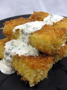 Beer-battered tofu & buttermilk ranch dressing --- that tofu looks BOMB