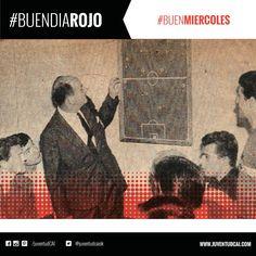 #BuenDiaRojo! #BuenMiercoles! 😈 Año 1963. Giúdice dando la charla técnica a los jugadores.