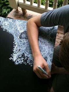 jibby and juna--white sharpie on coffee table.  Wonderful!