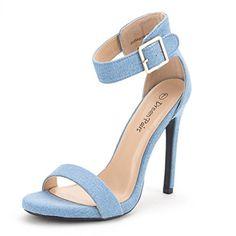 02d4e48bc34 DREAM PAIRS ELEGANTEE Women s Evening High Heels Open Toe Ankle Strap  Platform Casual Stiletto Pumps Sandals