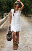 Hot Boho dress wit L/XL