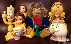 "Disney Store ""Beauty and the Beast"" Plush Collection 