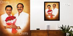 Get your favorite politician portrait painting done by doozypics photo to art starts at just Rs.450 For orders visit www.doozypics.com whats app number: 7799779935 Photo To Art, Photo Restoration, Photo Retouching, Online Gifts, Caricature, Online Art, Pop Art, Photo Gifts, Canvas Art