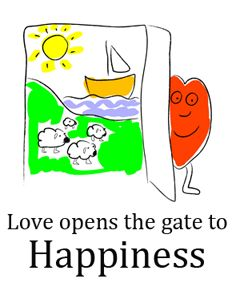 Love opens the gate to happiness (created by Clipartqueen.com)