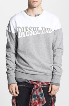 DIESEL®+'Sho'+Crewneck+Sweatshirt+available+at+#Nordstrom
