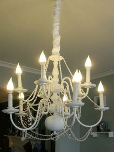 Some amazing chandelier makeovers on Addicted to Decorating blog site.