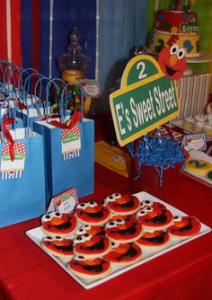 Elmo Sesame Street Party #elmoparty #sesamestreet