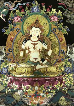 Tibetan Buddhism, Buddhist Art, Buddhism Symbols, Worli Painting, Buddha Thoughts, Tibet Art, Buddha Zen, Yoga Art, Gods And Goddesses