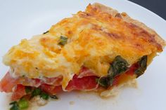 Tomato Pie- Friend of mine turned me on to Tomato Pie and it is to die for!!!  This one is Paula Deen's recipe and this looks very similar- Use Roma tomatoes instead and serve with Wheat Thins.  Keeping this!