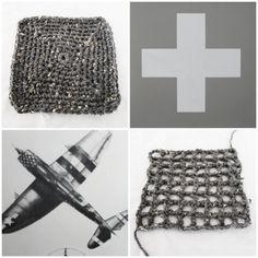 grey bamboo . cotton crochet