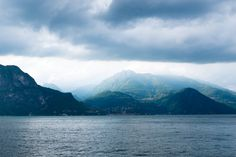 Lake Como just before a rainstorm, Menaggio, Italy - Imgur