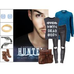 Book Look: Hunted (Sinners #2) By Abi Ketner & Missy Kalicicki by xmikky on Polyvore featuring Cédric Charlier, Cheap Monday, Seychelles, FOSSIL, J.Crew and Forever New