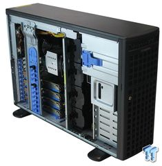 """""""One of the unique features of this workstation is support for 7x PCIe slots, 4x of which can be used for GPU expansion cards; the 1x slot is typically used for an AOC-TBT-DSL5320 Thunderbolt Add-On Card to provide remote operation."""""""