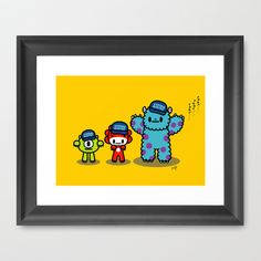 QiQi at Monsters University Framed Art Print by Ziqi - $37.00