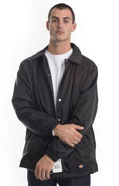 Dickies, Snap Front Nylon Jacket - Black | MLTD Carhartt, Hand Warmers, Street Wear, Suit Jacket, Jackets, Shopping, Black, Fashion, Tricot