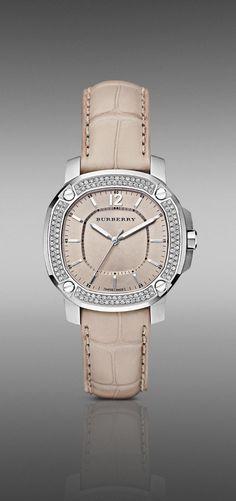 Burberry - The Britain BBY1400 38MM Diamond Bezel Watch