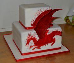 dragon cake image   Red Dragon Cake   Flickr - Photo Sharing!