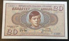 Yugoslavia, 20 Dinara, 1936. Aunc