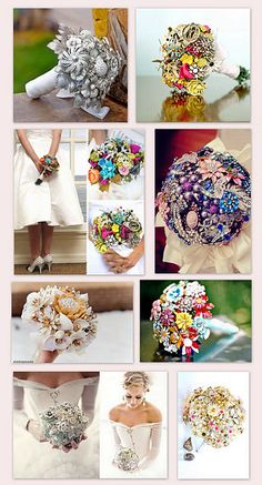 Broach bouquets - I love these things
